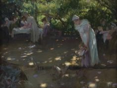 Summer Afternoon Carl von Marr.  The original showcases light through leaves and shadows and is spectacular.