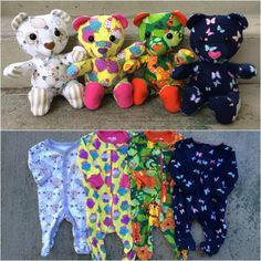 Save your baby's favourite sleepers, coming-home outfit or blanket forever by having them made into a one of a kind keepsake teddy bear from Nestling Kids Keepsakes! http://www.nestlingkids.com/product/keepsake-memory-teddy-bear-upcycled-from-your-own-fabric-baby-clothes-outfit-baby-blanket