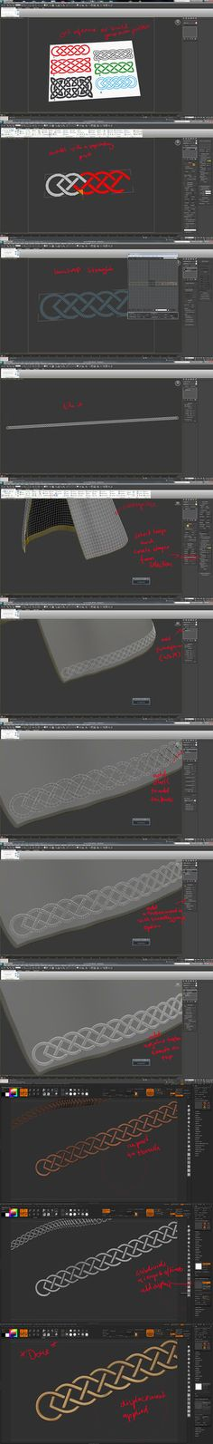 How to Create the Golden Stitches by Polyphobia3D