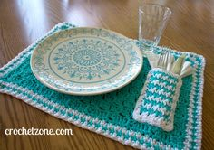 Free Crochet Pattern for Pocket Placemat