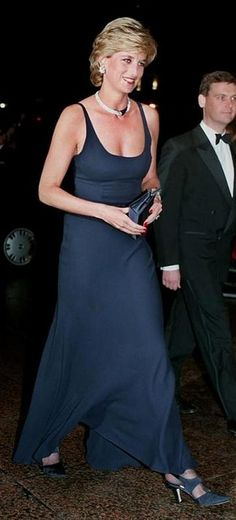 "October 26, 1995: HRH Diana, Princess of Wales at the Premiere of "" Haunted"" in London."