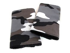 Camouflage Teething Pads, Drool Pads for baby carrier - Reversible/Water Resistant - 1 pair - for Ergo, Beco, Tula, Bjorn, Snugli