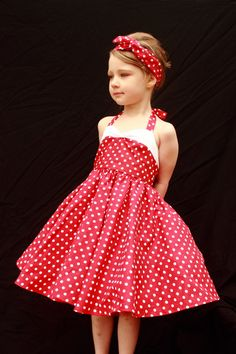 Teen Beach Movie  Red Vintage Style Polka Dot by DarlingInDisguise, $60.00
