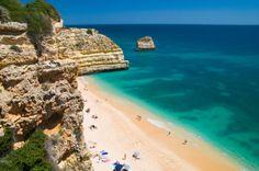 Praia da Marinha overview