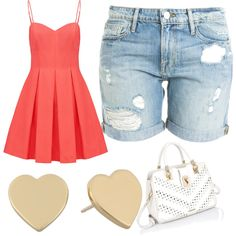 Untitled #226 by evanmonster on Polyvore featuring polyvore fashion style Forever New Frame Denim Kate Spade