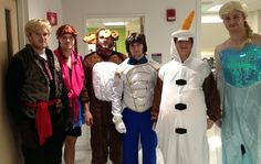 The Boston Bruins as the cast of Frozen