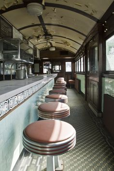 Skee's Diner Interior photo pre-restoration