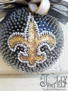 #NewOrleans #Saints #WhoDat Sequined #Christmas #Ornament #TheJollyFatElf $30.00