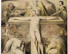 Bible In My Language / Christ Nailed to the Cross The Third Hour - William Blake, c.1800-c.1803