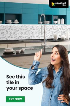 Finding the perfect tile design for your kitchen is just one small click away. All you need to do is have a picture of your current space and use the Trialook feature below to try a tile. See the tile in your space with the Trialook visualiser tool. #tileideas #homedecor #trendingdecor #tiletrends #interiordesign #homeredecor #kitchen #decor