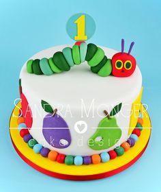 Hungry Caterpillar birthday cake.