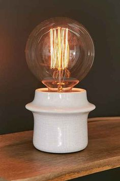 """$40 Length: 6"""" - Width: 6"""" Petite Ceramic Table Lamp - Urban Outfitters"""