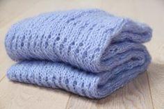 Pletená mohérová dutá šála / Knitted shawl