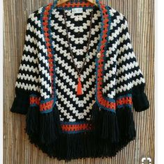 Hand Made 00700700 - Knitting a love Crochet Bolero, Cardigan Au Crochet, Beau Crochet, Pull Crochet, Mode Crochet, Crochet Coat, Crochet Winter, Crochet Jacket, Crochet Cardigan