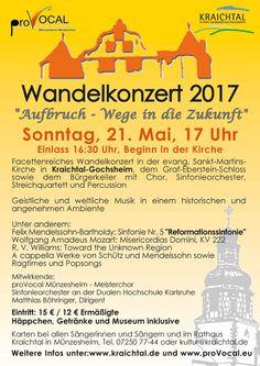 Wandelkonzert 2017, Sonntag, 21. Mai 17 Uhr
