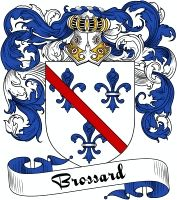 Brossard Coat of Arms  Brossard Family Crest   VIEW OUR FRENCH COAT OF ARMS / FRENCH FAMILY CREST PRODUCTS HERE