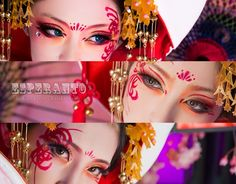 Geisha Makeup, Fox Makeup, Makeup Art, Japanese Makeup, Japanese Art, Japanese Wedding, High Fashion Makeup, Art For Art Sake, Fantasy Makeup
