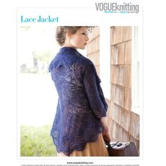 Name: 'Knitting : Lace Jacket Vogue Knitting, Knit In The Round, Lace Jacket, Knitwear, Wool, Sleeves, Sweaters, Jackets, Clothes