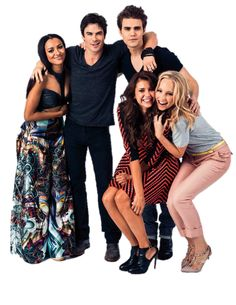 Ian Somerhalder, Paul Wesley, Candice Accola, Kat Graham and Nina Dobrev