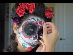 Dia de los muertos makeup  (Day of the dead) is a video showing you a cool look for the celebration
