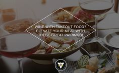 Some nights, you just can't face cooking a meal. Maybe the traffic was bad, or it was a tough day at the office. Perhaps you came home to a messy house or crying children. It's getting late, and you're exhausted. Takeout to the rescue! #wine #takeout
