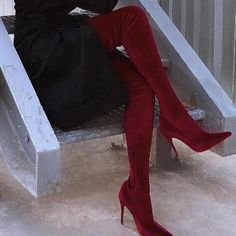 Thigh High Boots, Over The Knee Boots, Knee Stretches, Cheap Sandals, Green Heels, Sexy, Hot Shoes, Western Boots, Types Of Fashion Styles