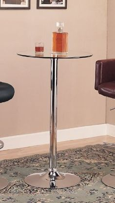 Bar Table with Glass Top in Polished Chrome Finish by Coaster Home Furnishings, http://www.amazon.com/dp/B004T352LQ/ref=cm_sw_r_pi_dp_60Awrb0FEXBQK