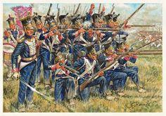 Polish line infantry at Leipzig, by Giuseppe Rava.(http://www.g-rava.it/opere/era_napoleonica_eng.htm)