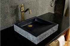 Thanks for you visiting 400 \/ Black Basalt Stone Vessel Bas. Black Bathroom Sink, Stone Bathroom Sink, Bathroom Wall Decor, Bathroom Colors, Washroom Tiles, Bathroom Ideas, Granite Bathroom, Bathroom Vanities, Bathroom Furniture