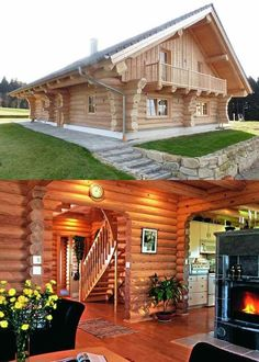 Why You Should Consider Buying a Log Cabin - Rustic Design Luxury Log Cabins, Prefab Cabins, Log Cabin Homes, Timber House, Wooden House, Cabin Plans, House Plans, Log Home Kitchens, Cabin Design