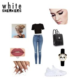 Untitled #3 by gabyelvir-ge on Polyvore featuring polyvore, fashion, style, Ted Baker, Topshop, NIKE, Smashbox and clothing