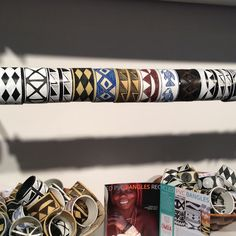 Unique colorful bracelets are made from PVC Pipe.  These bracelets are made from 9 regions in Namibia.