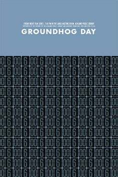 Minimalist Movie Poster: Groundhog Day