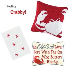 Adding a few #coastal products to your home can make it feel like you're at the #beach. #CFEnterprises #Crabs #Crabby