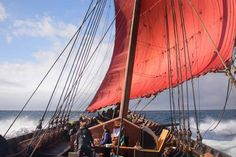 World's largest Viking ship loses mast but still set for Mersey