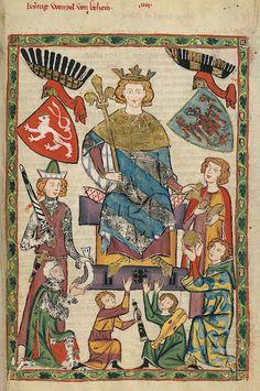 Manesse Codex - (1300 - 1340) König Wenzel von Böhmen