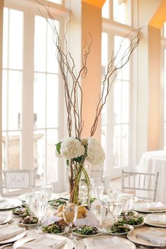 Gorgeous and simple centerpiece