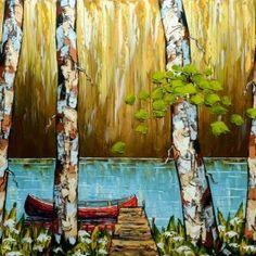Bout du quai par Stefan Horik 30 x 40 / Huile sur toile  #Art #Artwork #Artist #artiste #paysage #landscape #peinture #painting #homedecor #quebec #nature