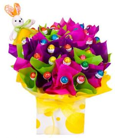 Easter bouquet easter candy bouquet pinterest easter candy flowers australia gifts hamper this stunning edible chocolate bloom contains an negle Images