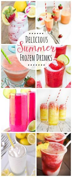Declious summer frozen drink recipes! Perfect to relax and recharge on a hot summer day! // http://cleanandscentsible.com