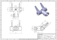 학습자료 > 3D 연습도면 > 3D모델링 연습도면 819 : 네이버 블로그 Mechanical Engineering Design, Mechanical Design, Sheet Metal Drawing, Autocad Isometric Drawing, Gear Drawing, Metal Lathe Projects, Cad Computer, Solidworks Tutorial, 3d Cad Models
