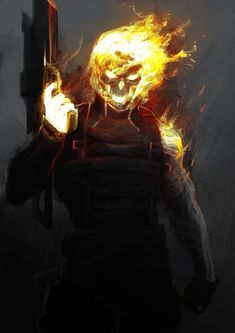 Mash up Ghost Rider and Winter Soldier Tumbler Fantasy Characters, Comic Book Characters, Comic Books Art, Comic Art, Spirit Of Vengeance, Ghost Rider Marvel, Totenkopf Tattoos, Dark Fantasy Art, Marvel Dc Comics