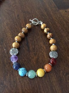 A personal favorite from my Etsy shop https://www.etsy.com/listing/496682458/wooden-chakra-bracelet