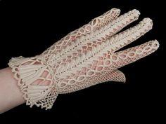 Irish crochet lace glove