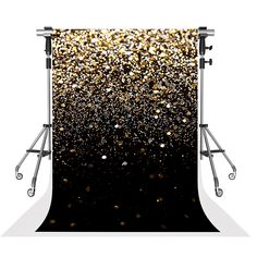 Kate Glitter Photography Backdrops Black Background with Golden Sparkling Backdrop for Wedding Shooting Glitter Paint For Walls, Glitter Art, Glitter Force, Glitter Dress, Sparkles Glitter, Silver Glitter, Birthday Backdrop, Birthday Background, Wedding Background