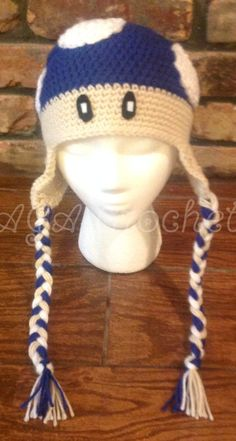 Mario Mushroom Crochet Hat. Available in toddler/child size and any color at www.facebook.com/agacrochet