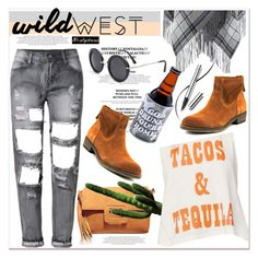 """Wild West Style"" by paculi ❤ liked on Polyvore featuring Theory, Nine West, Creep Street, Chantecaille, wildwest and nastydress"