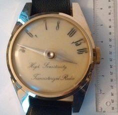 HIGH SENSITIVITY TRANSISTORIZED RADIO Huge Wrist Watch Japan http://www.medusamaire.com/my-ebay-items/ to see all of Medusa Maire's items for sale!