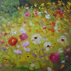 """""""132 DANCING IN THE YELLOW"""" - Original Fine Art for Sale - � Dee Sanchez"""