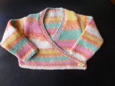 Handmade knitted baby girls ballet style long by BulldogKnits, £15.00